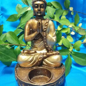 Bouddha candle gold