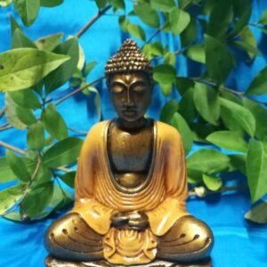 Bouddha orange 16 cm